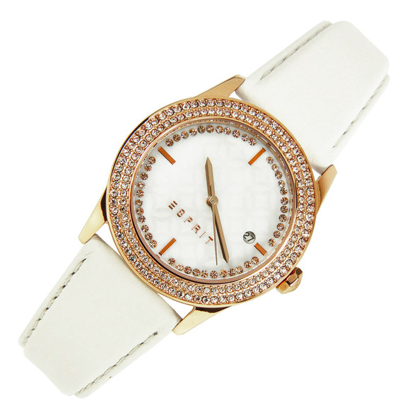 Esprit Jasmine Quartz Cream Leather Ladies Dress Watch ES107452002