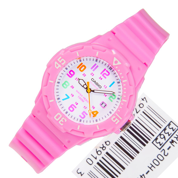 Casio Quartz Analog Pink Ladies Sports Watch LRW-200H-4B2VDF LRW200H