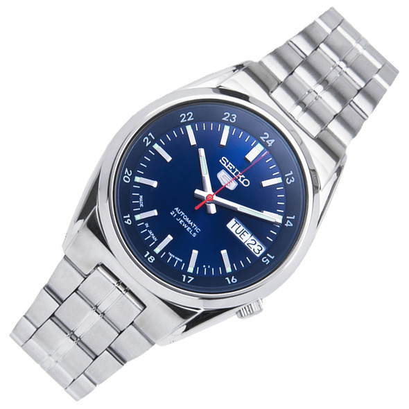 Seiko 5 Automatic Stainless Blue Dial Mens Dress Watch SNK563J1