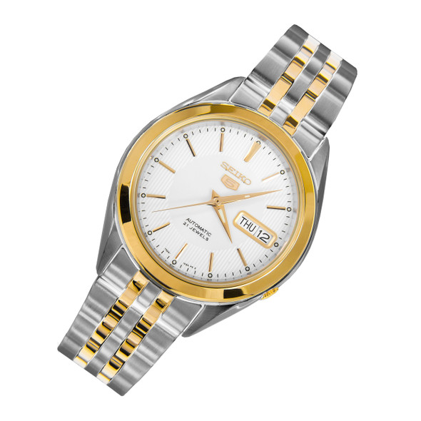 Seiko 5 Mens 21 Jewels Automatic Two Tone Watch SNKL24K1 SNKL24