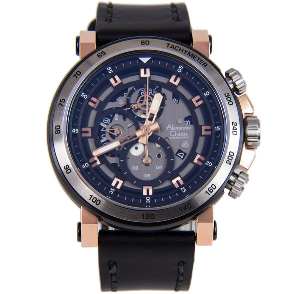 Alexandre Christie Chronograph Male Watch 6429MCLTRBA