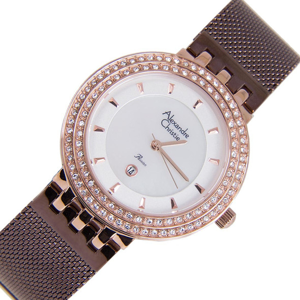 2651LDBRNSL Alexandre Christie Passion Women Diamond Watch