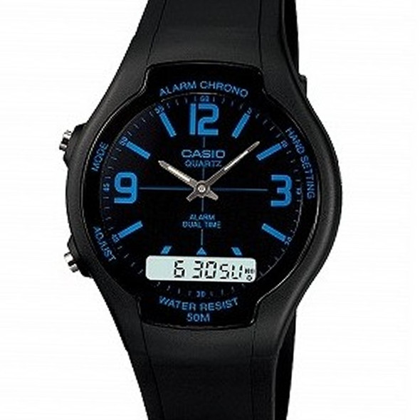 AW-90H-2BVDF AW-90H-2B Casio Digital Analog Gents Watch