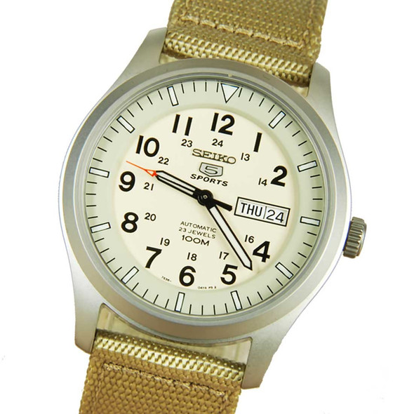 Seiko 5 Sports SNZG07K1 Military Automatic Mens Watch
