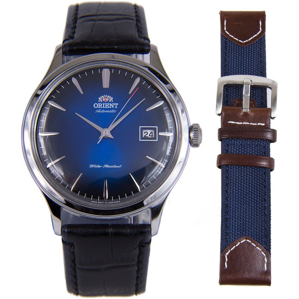 Orient Automatic Bambino Classic Mens with Extra Strap Watch FAC08004D0 AC08004D