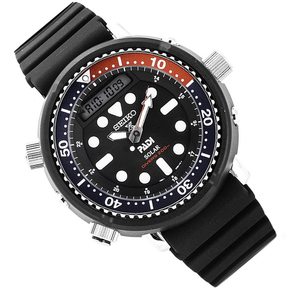 Seiko SNJ027P1 SNJ027 Prospex Pepsi Bezel Diving Watch