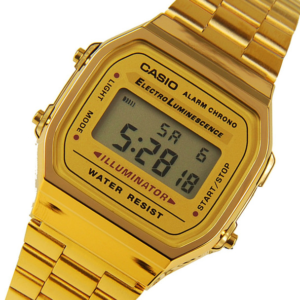 Casio A168WG retro vintage gold plated watch