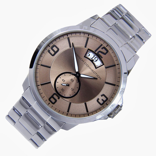 French Connection Analog Quartz Date Display Mens Dress Watch FC1209SM