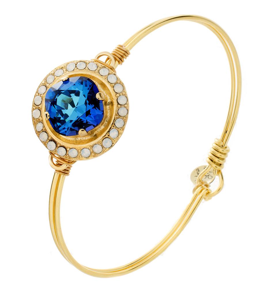 Large Crystal Wrap Wire Wrap Bracelet