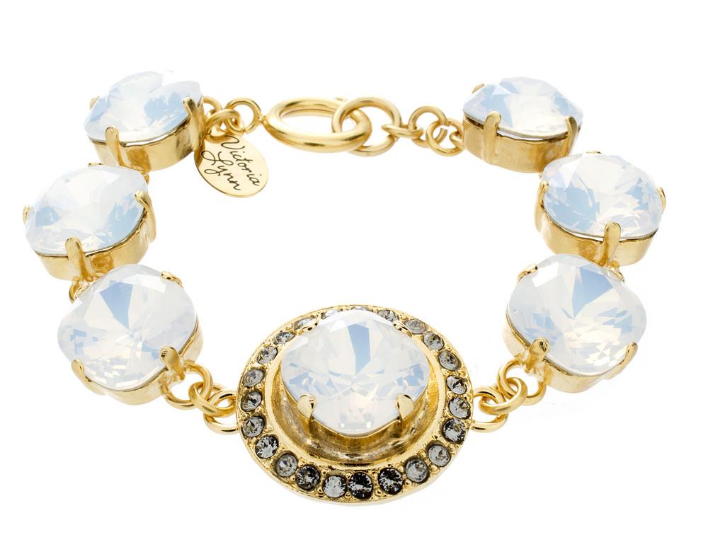 Large Crystal Wrap 12mm Bracelet