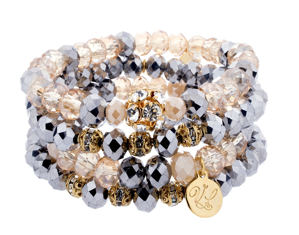 Stretch Bracelets- Set of 4- Creams
