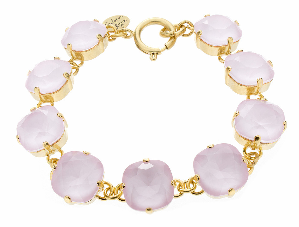 12mm Rounded Square Goldtone Bracelet