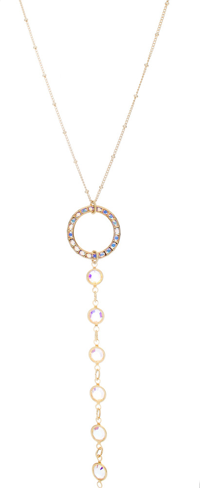 Circle/Fancy Chain Drop Necklace