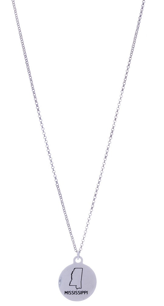 Mississippi  Necklace - Silver