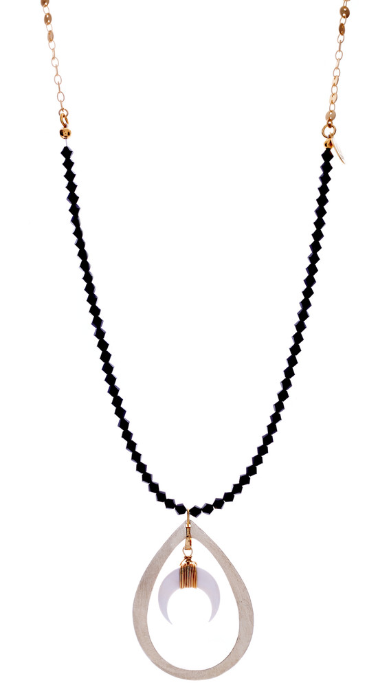 Crescent Black Necklace