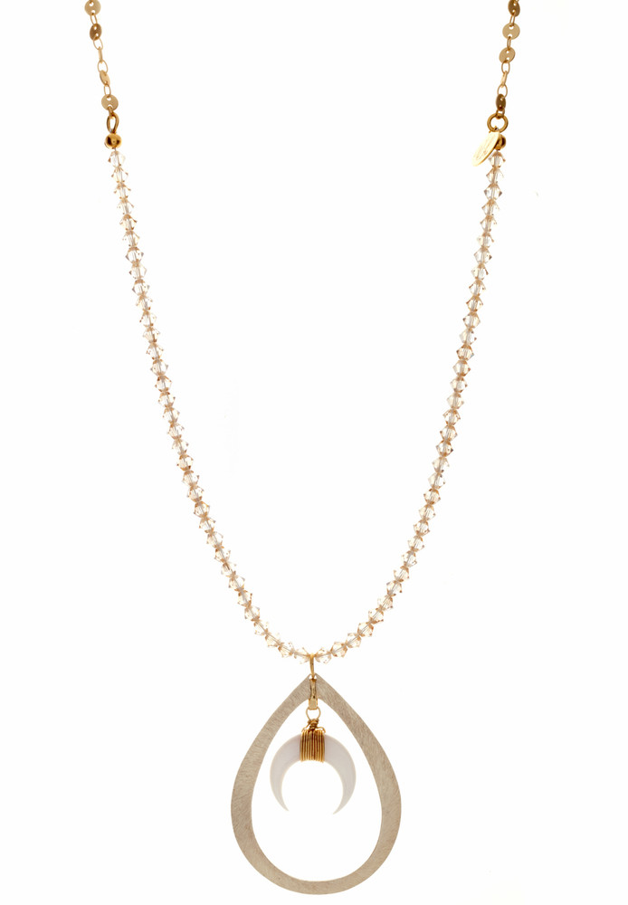 Crescent Golden Shadow  Necklace