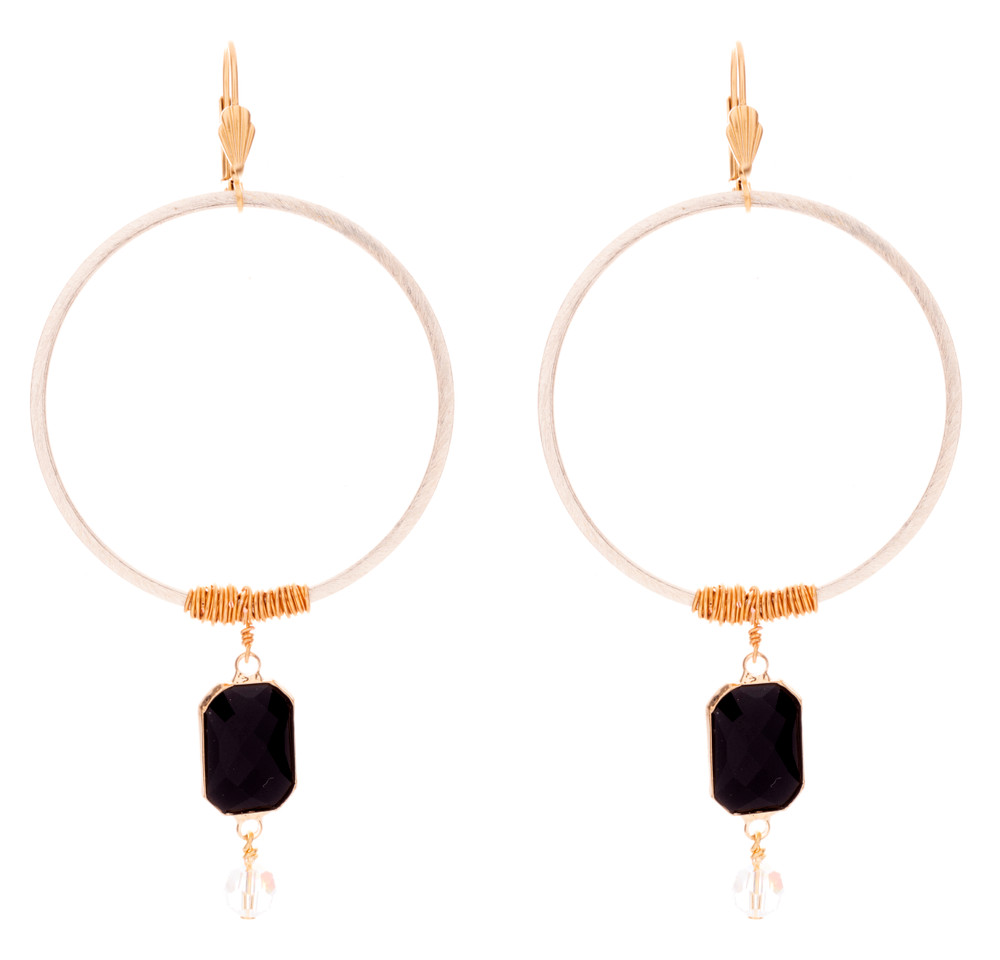 Cool Wired Jet Rectangle Drop Earrings Victoria Lynn Jewelry Wiring Cloud Hisonuggs Outletorg