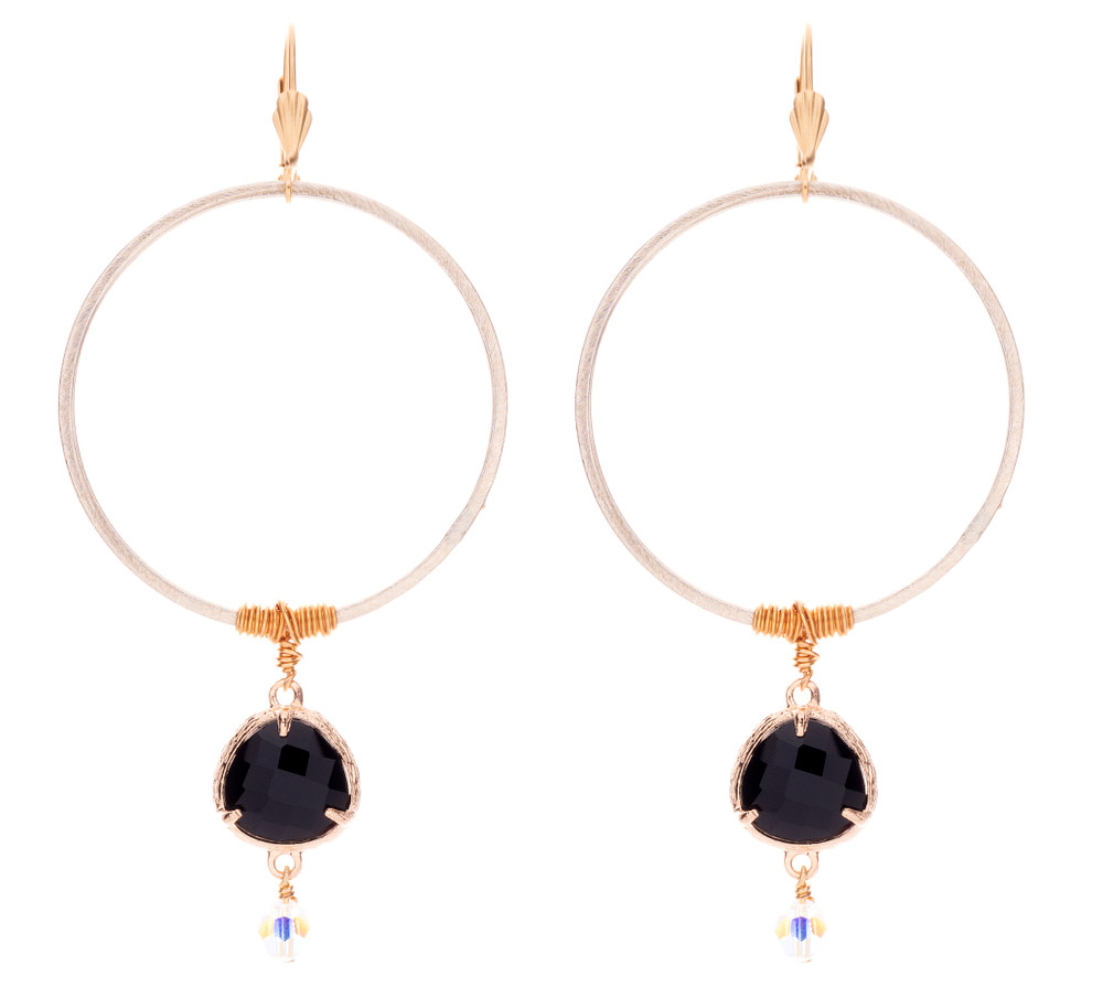 Awesome Wired Jet Drop Earrings Victoria Lynn Jewelry Wiring Cloud Hisonuggs Outletorg