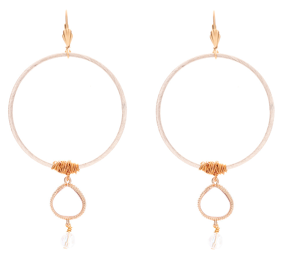 Wired Clear Drop - Earrings