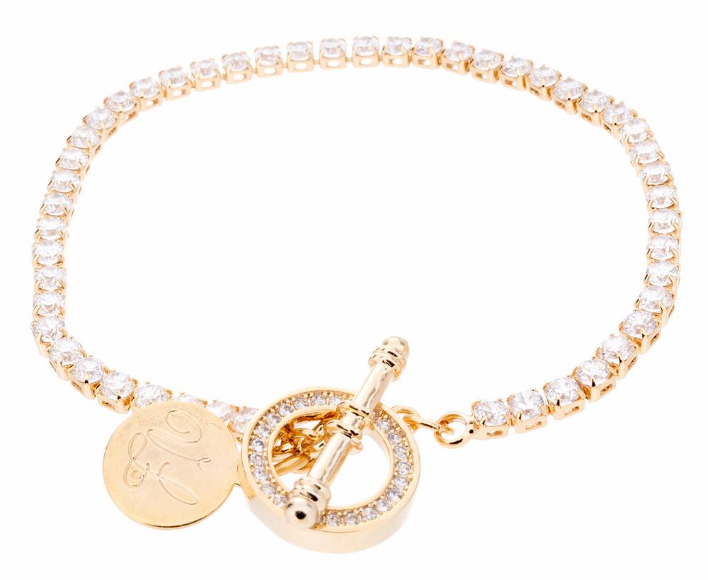 CZ Toggle Bracelet