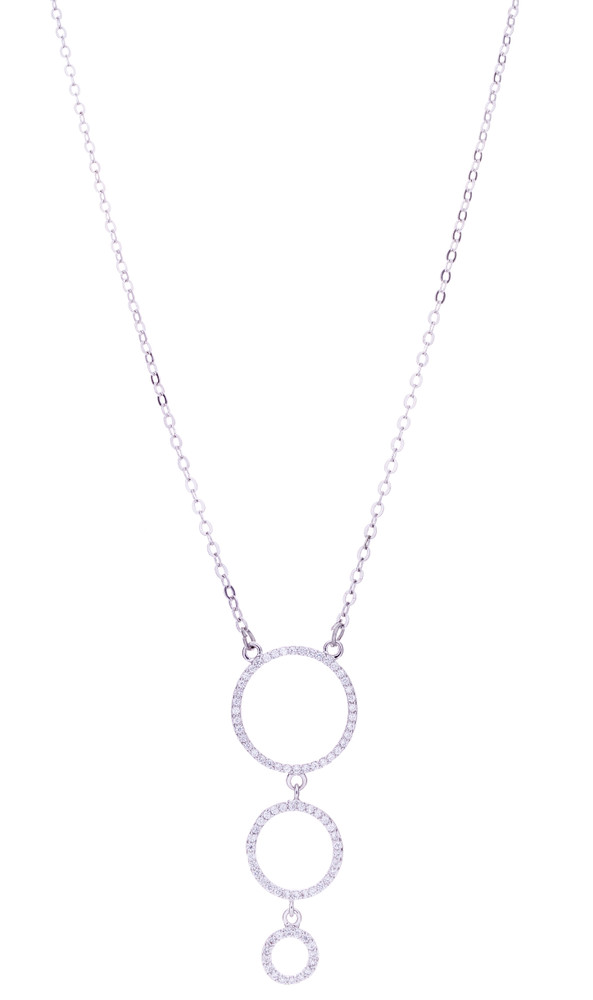 CZ 3 Circle Necklace