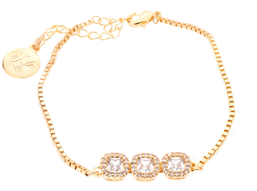 CZ 3 Crystal stone Bracelet
