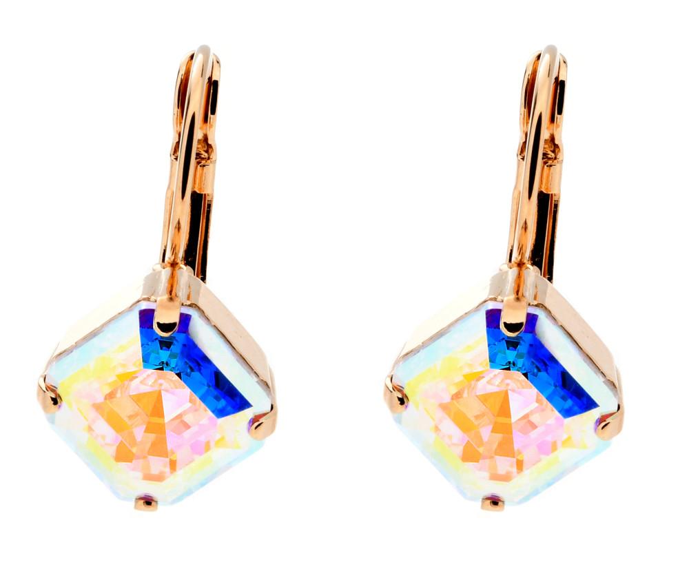 Asscher 10mm Dangle Earrings