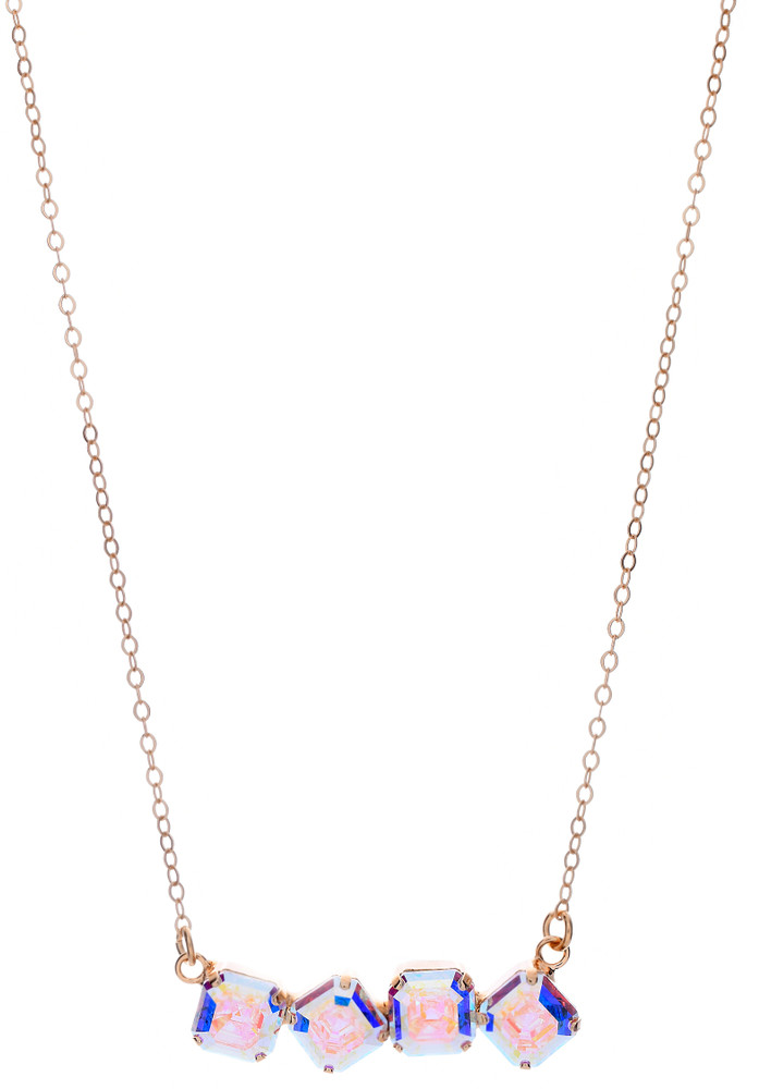 Asscher 4 Stone Necklace