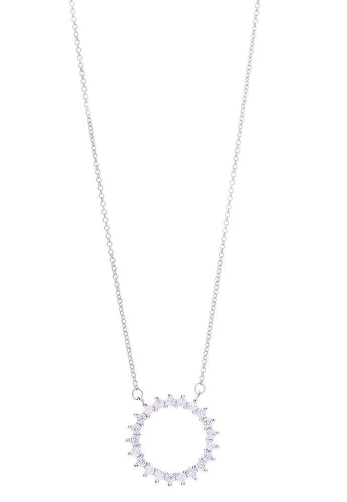 CZ Circle Necklace