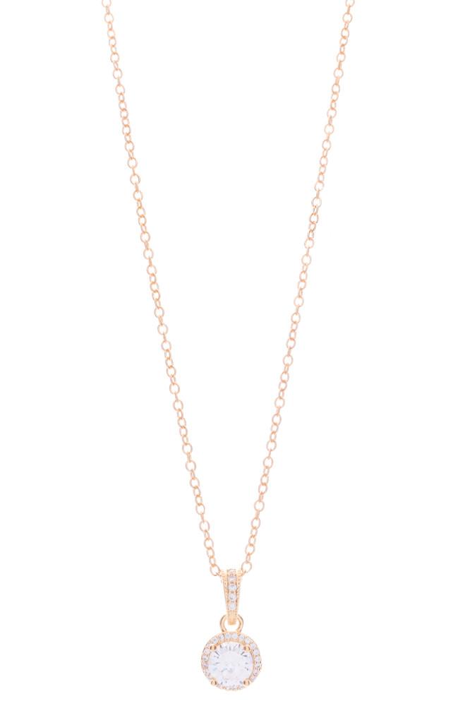 CZ Fancy Single Drop Necklace