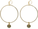 Large Hoop Earrings Goldtone