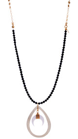 Crescent Black Necklace