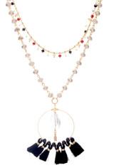 Multi Choker & Tassel Necklace