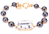 18mm Square Wired Pearl Bracelet