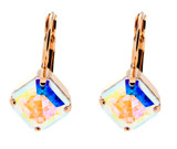 Asscher 10mm Dangle Earrings