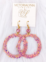 """Glimmer Large Ring """"Dreamsicle"""" Earring"""