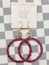 """Glimmer Large Ring """"Wine"""" Earring"""