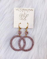 """Glimmer Small Ring """"Rose Gold"""" Earring"""