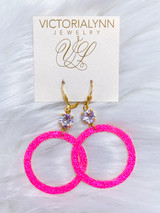 """Glimmer Small Ring """"Pink Heaven"""" Earring"""