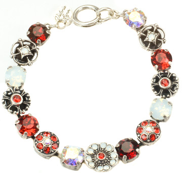 8mm Flower Sparkle Collection Bracelet