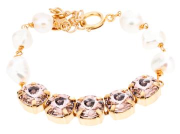 10mm Rivoli & Pearl Bracelet