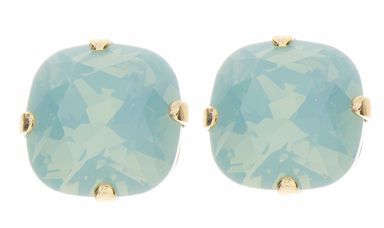 Earring - 12mm Square Stud - Goldtone