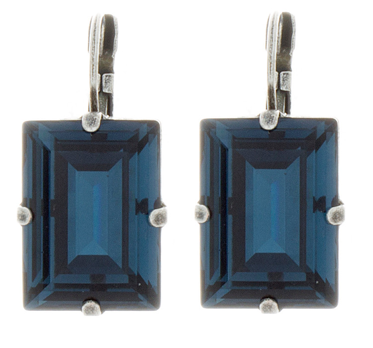 Earring 18mm Square Dangle