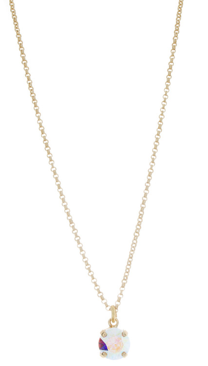 Childrens 8mm Single Drop Necklace Gold