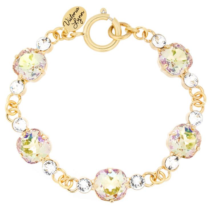 10mm Linked Crystal Accent Bracelet