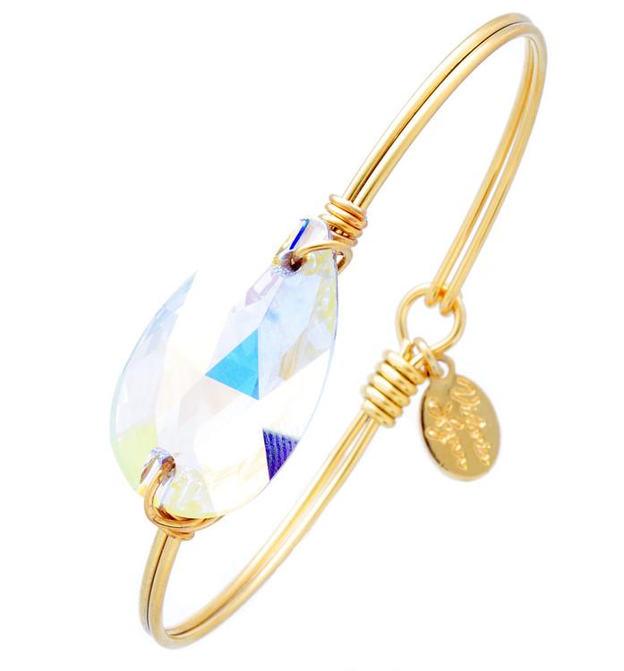 Under the Sea Wire Wrap - Crystal Ab Tear Drop Bracelet