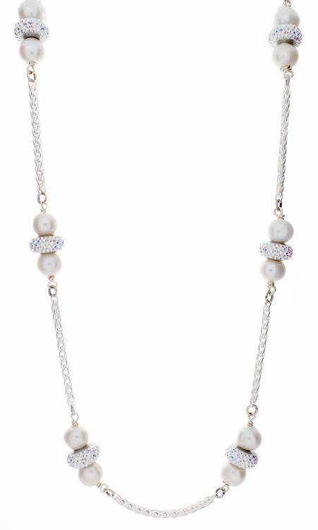 Long Pave Necklace