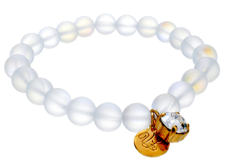 Moonstone/8mm Stretch Bracelet
