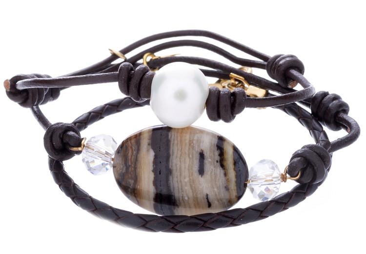3 Strand Leather Bracelet