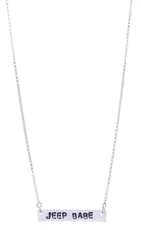 Jeep Babe Necklace - Silver